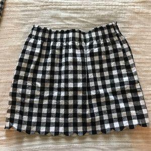 J Crew Scalloped Sidewalk Skirt